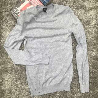 H&M Men Grey Pullover Sweatshirt Sweater Size XS for Guys