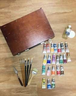 油畫箱油畫顏料油畫工具
