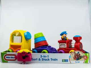~Ready Stocked~ Little Tikes 3 In 1 Sort & Stack Train Toy