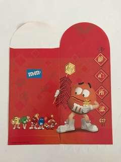 M&M's Orange Red Packet Ang Pow Hong Bao