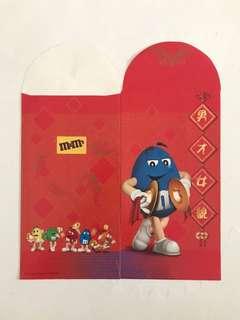 M&M's Blue Red Packet Ang Pow Hong Bao