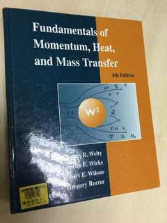 Fundamentals of Momentum, Heat & Mass Transfer