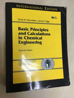 Basic Principles & Calculations in Chemical Engineering