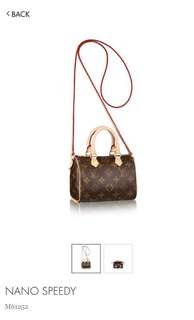 WANTED: AUTHENTIC Louis Vuitton Nano Speedy