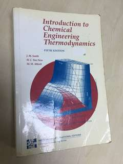 Introduction to Chemical Engineering Thermodynamics (5th Ed)