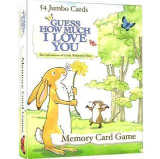 Guess how much I love you jumbo memory card game