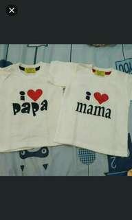 I love mama and papa shirt