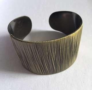 復古 民族  Initial rococo df feel 金屬 銅色 手扼 飾物 手飾
