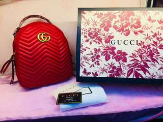 Gucci marmont backpacks