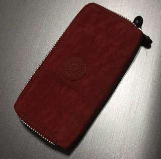 全新正牌 Kipling 橙紅色防水長形銀包wallet 正品 購自荷蘭 包包