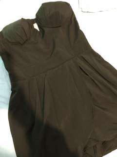 Strapless black Playsuit