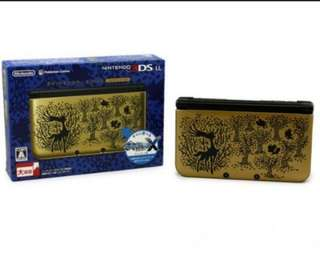 3DS LL Pokemon X & Y Gold Limited Edition