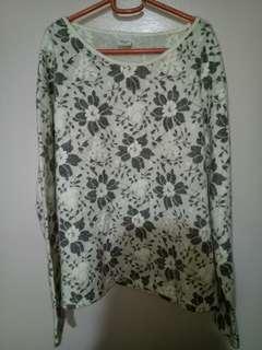 Bossini floral gray sweater