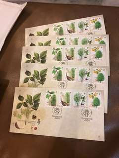 First Day Cover Cash Crops of Singapore