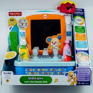 ~Ready Stocked~ Fisher-Price Laugh & Learn Let's Get Ready Sink