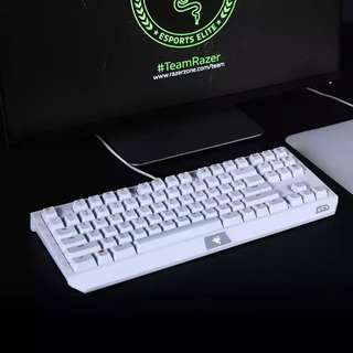 Razer Black Widow Tournament Edition LGD Special Edition White Gaming Keyboard