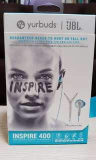 Original Brand New JBL Inspire 400 In Ear Headphones. Yurbuds.