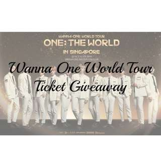 WANNA ONE TICKET GIVEAWAY