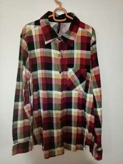 Love.bayo flannel plaid top