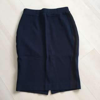 Uniqlo navy blue pencil skirt