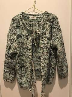 Heavy winter sweater coat
