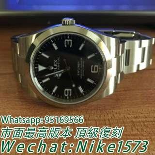 Rolex 勞力士探險家型系列214270-77200 黑盤腕錶 機戒錶