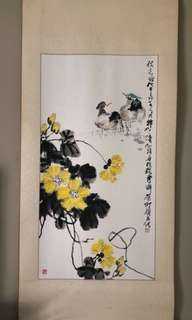 Chinese Ink Painting (Mandarin Ducks)
