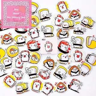 45pcs Yummy Sushi Expression Sticker Pack