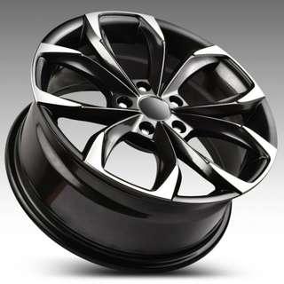 蕭條月6月限定促銷 17吋鋁圈 搭配馬牌 215/45/17 高性能跑胎 MC6 圈胎一組級品優惠價