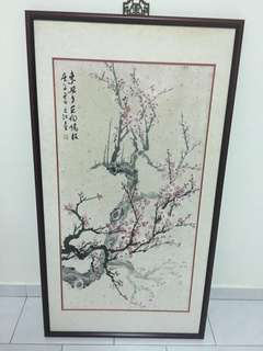 Chinese Ink Painting (Cherry Blossom)