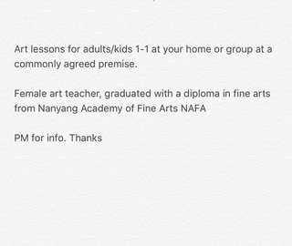 Art lessons for kids/adults