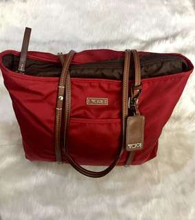 Tumi Red Tote Bag (Authentic)