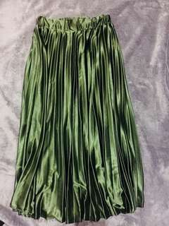 Long skirt pleated *Rare used once *Silk