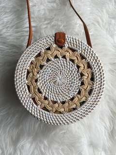 Rattan Double Braid Bag