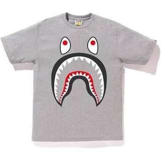 Bathing Ape Shark Ponr Tee Grey