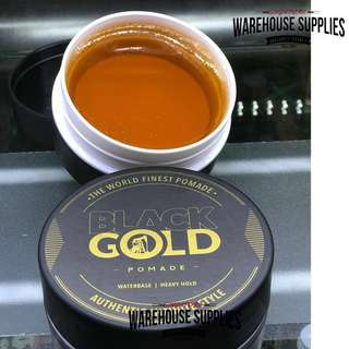 🚚 [BUY 1 FREE 1 ]BLACK GOLD POMADE [ STRONG HOLD,HIGH SHEEN ]