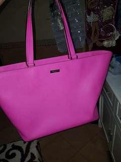 Kate Spade Newberry lane hot pink tote bag