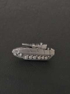 Army Tank Collar Pin Badge
