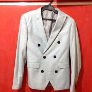 KPop powder blue slim fit suit