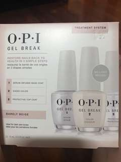 BNIB! OPI Gel Break 3 Step Nail Treatment