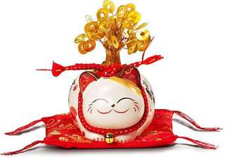 Fortune cat jsgf SC53362 small money tree ( led light)
