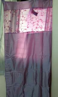 Purple pink curtain