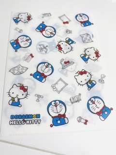 Doraemon X Hello Kitty Plastic A4 File