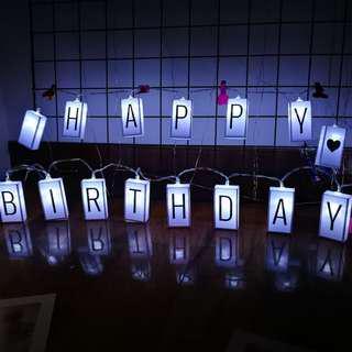 🔥CHEAPEST - LED Light Message Fairy Light Box - Customise Letters