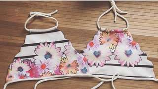 Floral Swimsuit Halter Top