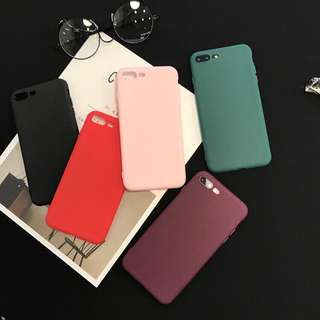 🌼C-1002 Simple Pure Color Frosted Case for iPhone🌼