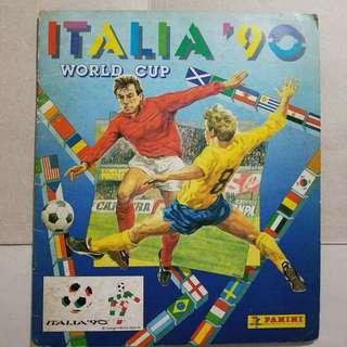 世界盃1990 panini集圖冊 全齊