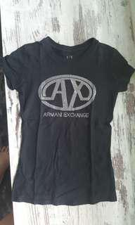 Almost Brand New Authentic Armani Exchange Black T-Shirt