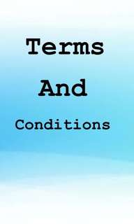 Terms and conditions!!
