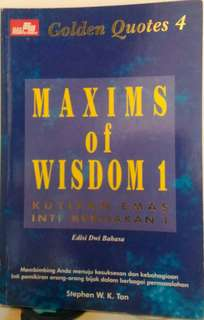 Buku : Maxims of Wisdom 1